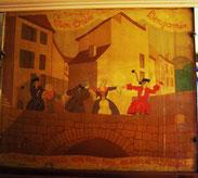Fresque au café chez L'oncle Benjamin
