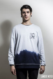 Sweat-shirt Blue wave