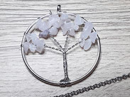 Lebensbaumkette Rosenquarz