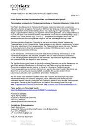 Urzeitspinne in Chemnitzer Grabung gefunden