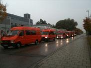 Der ABC-Zug München-Land rückte mit insgesamt sechs Fahrzeugen aus.