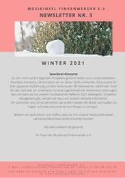Newsletter MusikInsel Finkenwerder e.V. Winter 2021 Seite 3