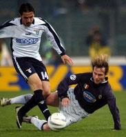 Auswärtstrikot Coppa Italia. Sponsor Indesit.