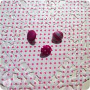 Stoffknöpfe, pink