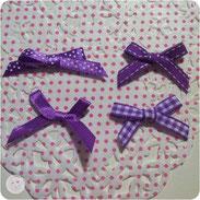 Schleifen, violett