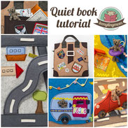 Quiet book tutorial Teddy