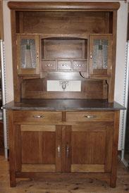 Eichen Küchenschrank,1910,Bleiverglasung,Marmorplatte,Jugendstil,Buffet, € 1450,00