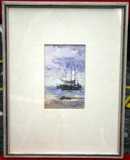 German Grobe, Aquarell Segelschiffe, € 550,00