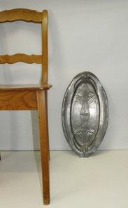 Große Jugendstil Zinn Platte, Tablett, oval, 52,5 cm x 29,0 cm, € 175,00