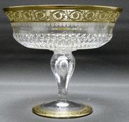 Kristall Fußschale,Thistle Gold, Cristallerie Saint Louis,mundgeblasen,Ø 22,3 cm , € 890,00