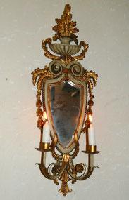 Italienische Wandapplike, Louis Seize Stil, Holz geschnitzt, farbig gefasst, € 250,00