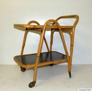 50er Jahre Teewagen aus gebogenen Bambus, € 125,00