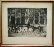Aachener Rathaus,Radierung,Aufl. 52/80, signiert Sepp Frank, Heinrich Wetteroth, € 350,00