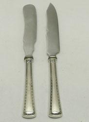 Set Buttermesser & Käsemesser,800er Silber, VSF Düsseldorf, Modell 5100, 19,5 cm, € 99,00