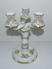 3-Flammiger Porzellan Kerzenleuchter, Herend Hvngary, Queen Victoria, 7915/VBO,  € 249,00