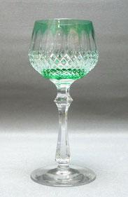 Kristall Glas, Römer, Tritschler Winterhalder Neustadt, grün überfangen, 18,5 cm, € 48,00
