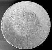 Rosenthal, Porzellan Schale, Relief, Löwenzahn, Mohn, weiss, Ø 36,5 cm , € 125,00