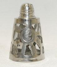 Kleiner Salzstreuer, Silber, 925er Sterling, Made in Mexiko, 5,5 cm,€85,00