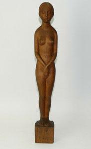 Art-Deco Figur, Max von Bergen, 1918, Bern, Signiert und bezeichnet, 41cm,Eiche, € 485,00