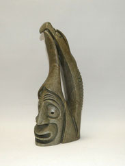 Inuit Kunst, signirt Gene Thomas, Soapstone, Carving, Canadian, Totem, 31,0 cm, € 750,00
