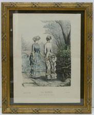 Louis Seize Rahmen,Kannelierungen,Kreuzbandmuster,Gold,Alter Modestich,44,5x36,0 , € 230,00