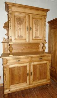 Weichholzmöbel vom Restaurator, großer Jugendstil Küchenschrank, Säulen, 225 cm, € 2850,00