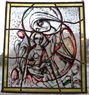 Frans Griesenbrock, 1976, Bleiverglasung, Glasmalerei, Maria und Jesus, € 450,00