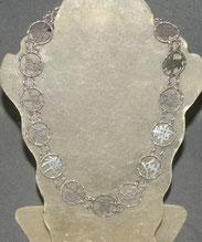 Chinesische Silber Kette, 16 chinesische Schriftsymbole, 44,5 cm, € 220,00