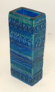 Bitossi Keramik by Aldo Londi, Rimini Blue, rechteckige Vase, 22,3 cm,€ 69,00