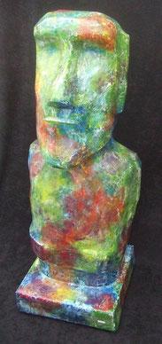 Moai-Osterinsel-Skulptur-Kunstwerk von künstlerstein.de Mathias Rüffert