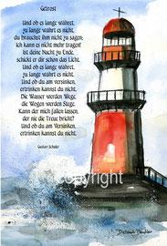 Leuchtturm Wellen