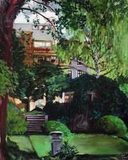 "Lukas Johannes Aigner, ""Im grünen Bereich"", Acryl/Öl auf Leinwand, 90x70cm, 2004"