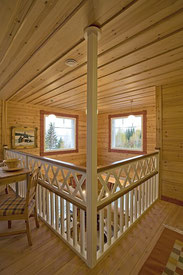 Modernes Wohnen im Blockhaus - Holzhaus in Blockbauweise