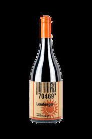Flasche vom Rosé Wein in den Stuttgarter Weinbergen