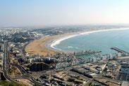 Blick auf Agadir.