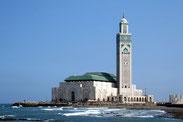 Große Moschee Hasan II. in Casablanca.