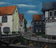 北ドイツの街角 ( 油彩 F10 )