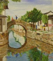 蘇州近郊の水郷の町 用直の春 (F10)