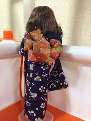 Japanese silk cloth,kimono doll