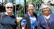 Christiane Madec, Claudine Avril et MarieHélène Le Brun, pour l'organisation de la nuit des veilleurs (juin 2018)