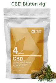 CBD Blüten 4 g  HempMate jetzt online Bestellen bei HempMate Vital Team Vertriebspartner