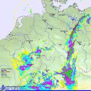 Bildquelle: Deutscher Wetterdienst | Radarbild am 31.05.2013 um 14:15 UTC.