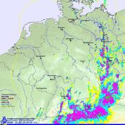 Bildquelle: Deutscher Wetterdienst | Radarbild am 01.06.2013 um 16:00 UTC.