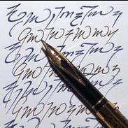 Feder und Tinte Schrift und Schreiben