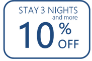 stay 3 nights get 10% off