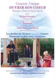 Concert OUVRIR SON COEUR à Théoule, le 29 juin 2014