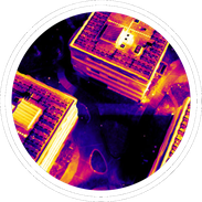 Thermal imaging cameras can be used on drones for management of assets like powerlines, switchboards and solar panels.