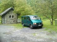 Le Minibus TER assurant le relais jusqu'à Canfranc
