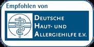 Logo Deutsche Haut- und Allergiehilfe e.V.
