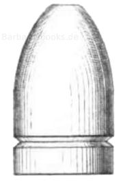 Zylindroogivales Spitzgeschoss mit schwacher Reifelung und abgeplatteter Spitze (Bayer. Infanteriegewehr, Muster 1858)
